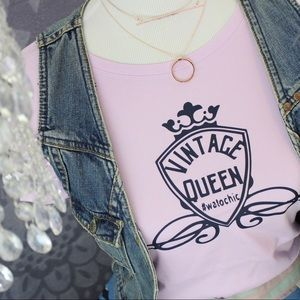 Tops - SOLD✂️Custom made Graphic T-SHIRT 👑 VINTAGE QUEEN